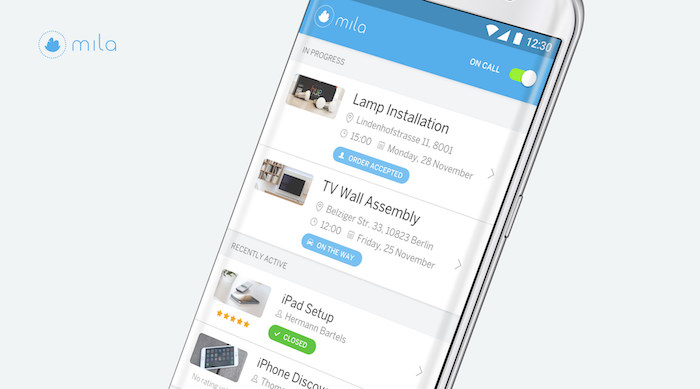 mila app smartphone