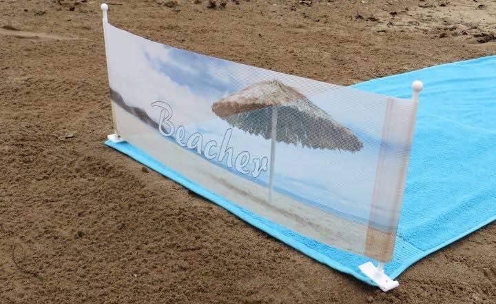 beacher strandtuchhalter windschutz