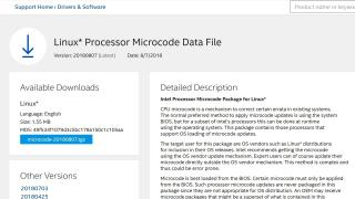 Intels Linux Processor Microcode Data File