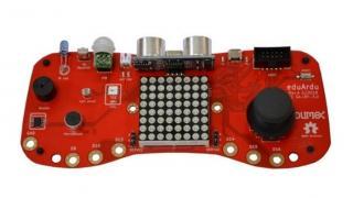 Ein rotes Board in Form eines Spielecontrollers