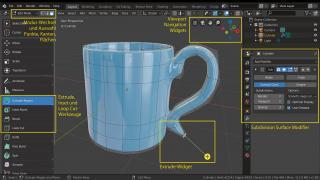 Blender-Workshop Teil 2: Vom simplen Zylinder zur schicken Kaffeetasse