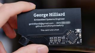 Elektronische Visitenkarte mit Linux